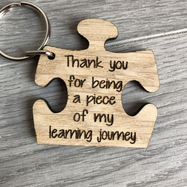 Teacher Jigsaw piece keyring